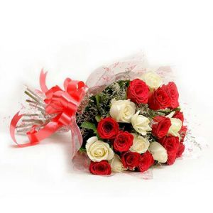 Flower Bouquet (White and Roses)