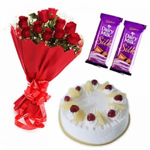 Combo Gift (Flower – Chocolates – Cake)