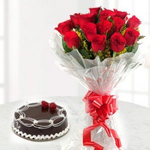 Combo Gift (Cake and Flower Bunch)