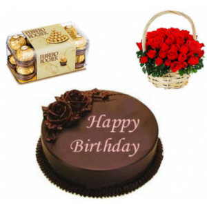 Combo Gift (Chocolates – Flowers – Cake)