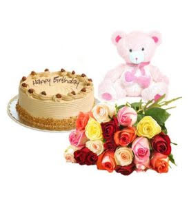 Combo Gift (Cake – Flower – Teddy Bear)