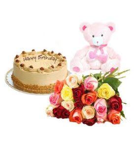 Combo Gift (Cake – Flower – Teddy Bear)