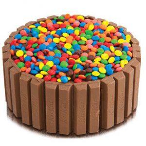 Kitkat and Gems Cake