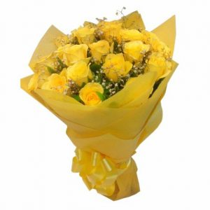 Yellow Gratitude with 15 Yellow Roses