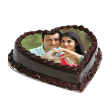 Choco Heart photo cake